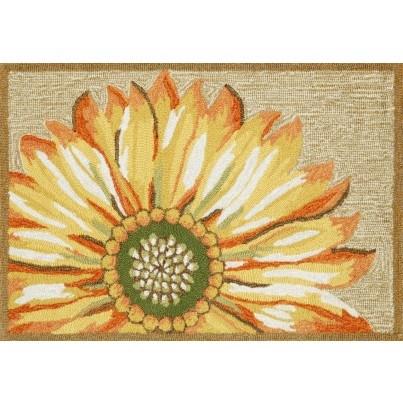 "Trans-Ocean Frontporch Sunflower Yellow Rug 24""X36""  by TransOcean"