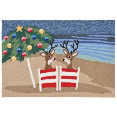 "Trans-Ocean Frontporch Coastal Christmas Multicolored Rug 24""x36""  by TransOcean"