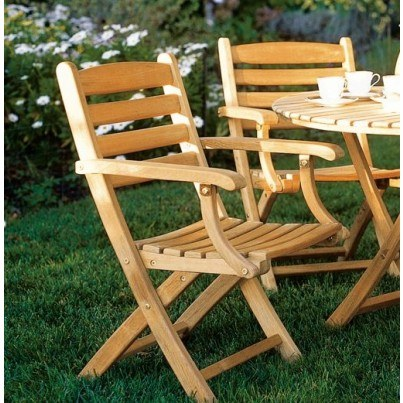 Kingsley Bate Gearhart Teak Folding Armchair  by Kingsley Bate