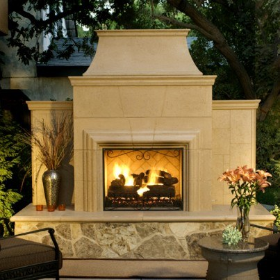 Grand Cordova Fireplace  by CGProducts