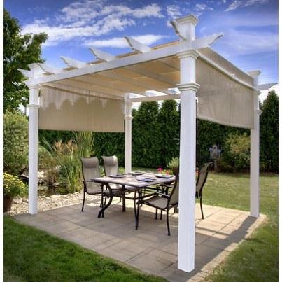 Malibu 10' Canopied Pergola  by Frontera Furniture Company