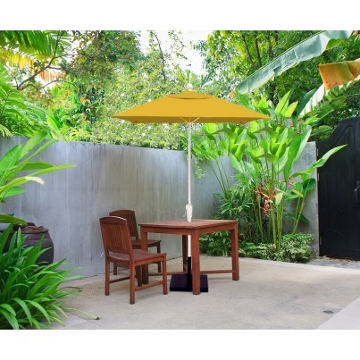 Luxe Shade™ Lucia Square 6.5' Market Patio Umbrella  by Luxe Shade™