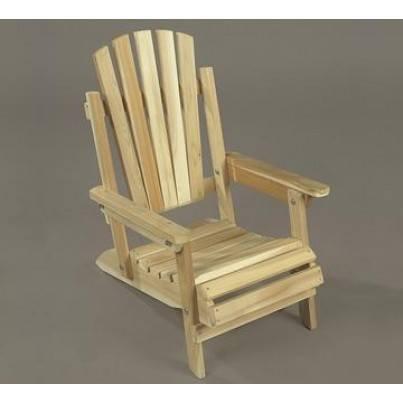 Rustic Natural Cedar Adirondack Junior Folding Chair  by Rustic Natural Cedar