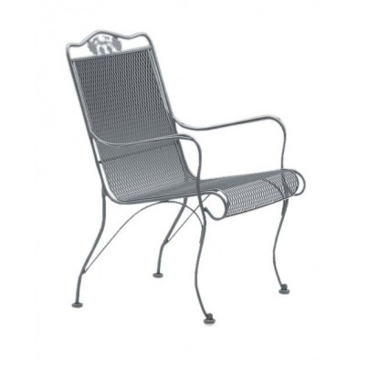 Woodard Briarwood Wrought Iron High-Back Lounge Chair  by Woodard