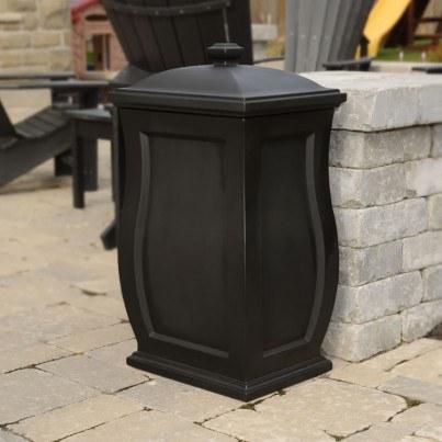 Mayne Mansfield 22 Gallon Storage Bin - Black,White  by Mayne
