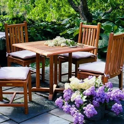 """Kingsley Bate Evanston Teak Dining Table 36""""  by Kingsley Bate"""