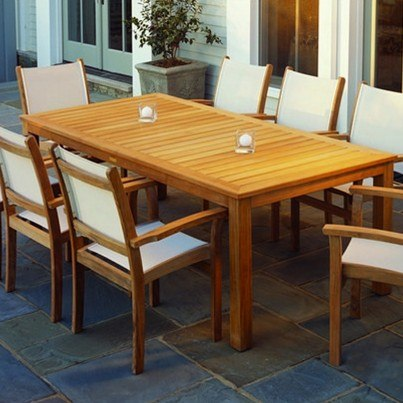 "Kingsley Bate Wainscott Teak 85"" Rectangular Dining Table  by Kingsley Bate"