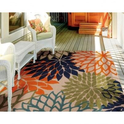 Nourison Indoor/Outdoor Aloha ALH05 Rug - Multicolor 9x13  by Nourison