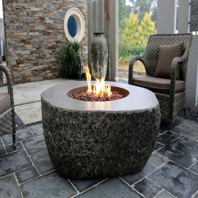 Eco-Stone Burning Rock Fire Pit Table  by Frontera Furniture Company