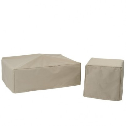 Kingsley Bate Naples and Tivoli Sectional - Square Ottoman Cover (no zipper)  by Kingsley Bate