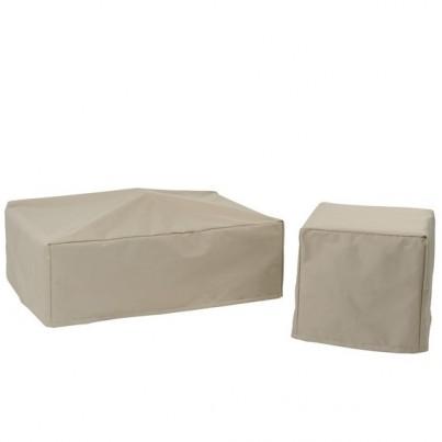 Kingsley Bate Mendocino Teak Deep Seating Lounge Chair Cover  by Kingsley Bate