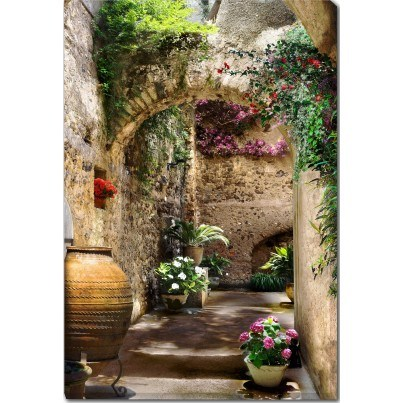 West of the Wind Outdoor Canvas Wall Art - Aragonese Arches  by West of the Wind