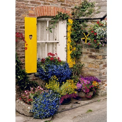 West of the Wind Outdoor Canvas Wall Art - Polperro  by West of the Wind