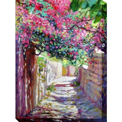 West of the Wind Outdoor Canvas Wall Art - Shady Lane  by West of the Wind