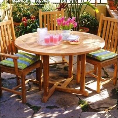"""Kingsley Bate Essex Teak Dining Table 42""""  by Kingsley Bate"""