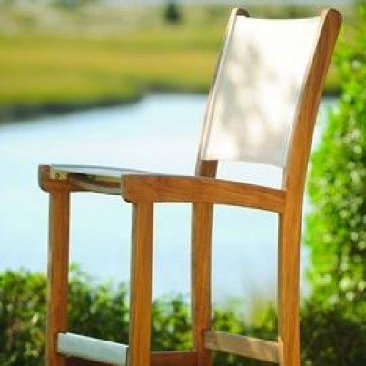 Kingsley Bate St. Tropez Teak Armless Bar Chair  by Kingsley Bate