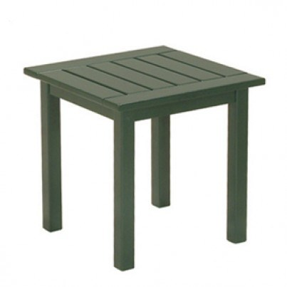Savannah Brazilian Cherry Side Table  - Painted Green  by Frontera Furniture Company