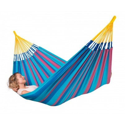 La Siesta Sonrisa Weather-resistant Single Classic Hammock - Wild Berry  by La Siesta