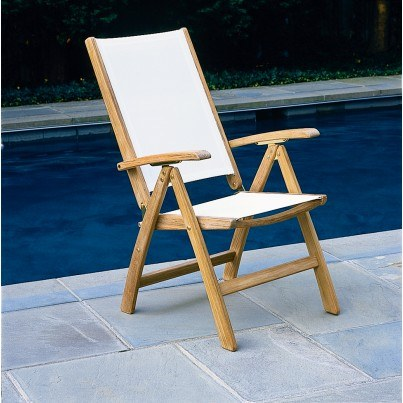 Kingsley Bate St. Tropez Teak Adjustable Dining/Lounge Armchair (Folding)  by Kingsley Bate