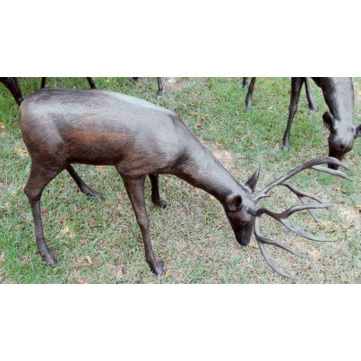 Three Coins Cast Aluminum Grazing Buck  by Three Coins Cast