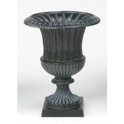 Three Coins Cast Venetian Cast Aluminum Medium Urn  by Three Coins Cast