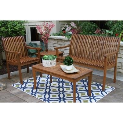 Outdoor Interiors Eucalyptus 4pc Seating Ensemble  by Outdoor Interiors
