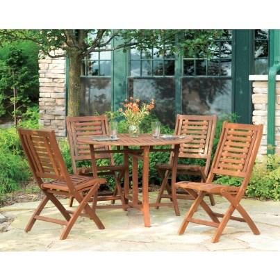 Outdoor Interiors Eucalyptus 5pc Dining Ensemble  by Outdoor Interiors