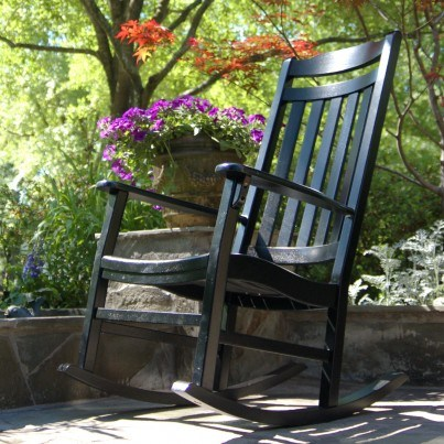 World's Finest Outdoor Rocker - Painted Black HURRY only 2 left!  by Frontera Furniture Company