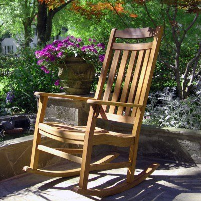 World's Finest Outdoor Rocker - Natural Oil  by Frontera Furniture Company