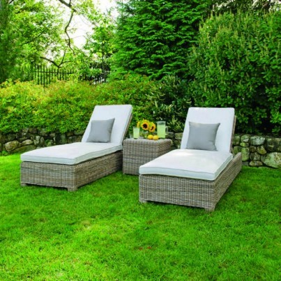 Sag Harbor Woven Adjustable Chaise Lounge w/Wheels