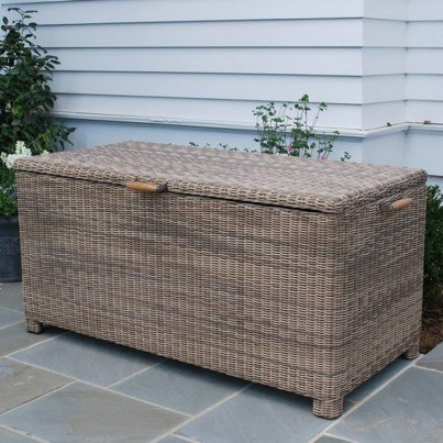 Sag Harbor Large Woven Cushion Box