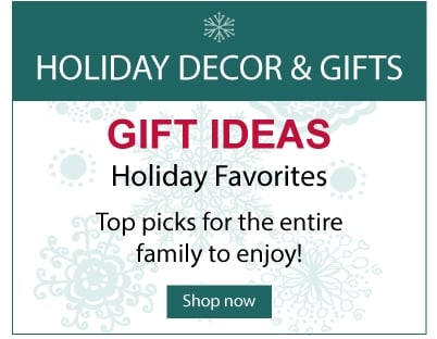 Holiday gifts and decor