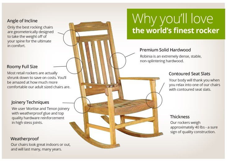 Outdoor Rocking Chair Features